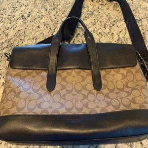 Coach brief case like brand new 16 1/2 wide by 11
